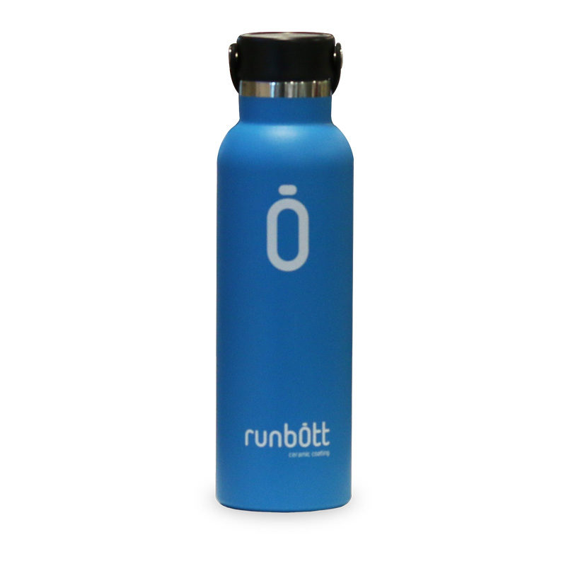 Botella termo Runbott azul para bebida portátil de 60cl