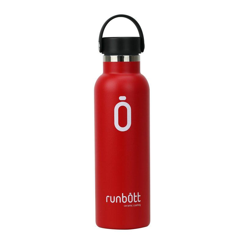 Botella termo Runbott roja para bebida portátil de 60cl