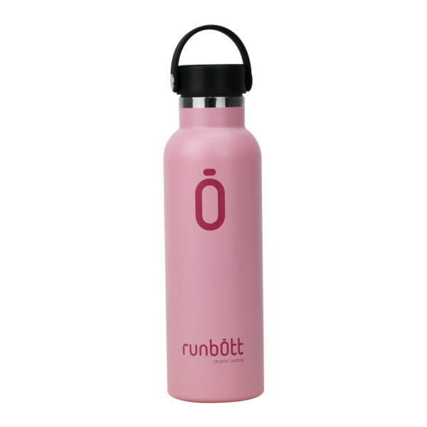 Botella termo Runbott 60cl color rosa para beber