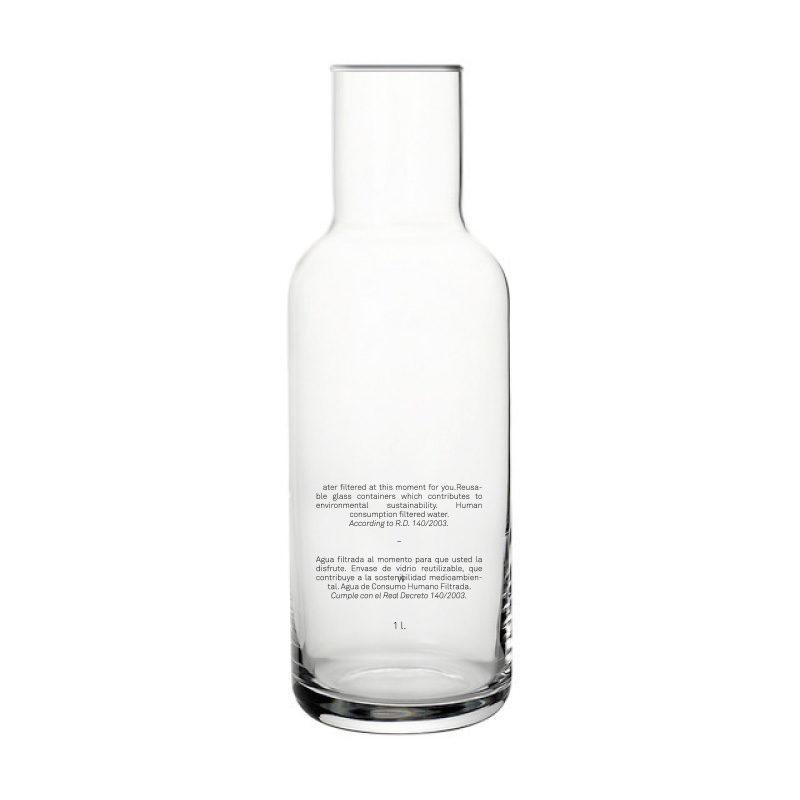 botella cristal 1 litro Tabit