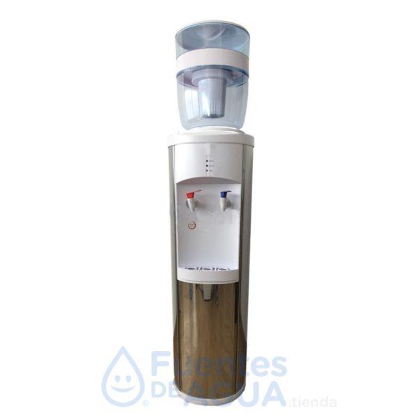 SILVER dispensador de agua tres temperaturas con botella rellenable