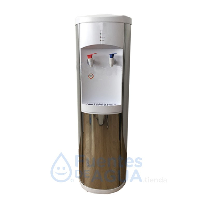 SILVER dispensador de agua tres temperaturas con botella rellenable
